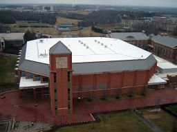 Terracon provided roof consulting services for UNC at Charlotte to fix a leak and billowing issues.