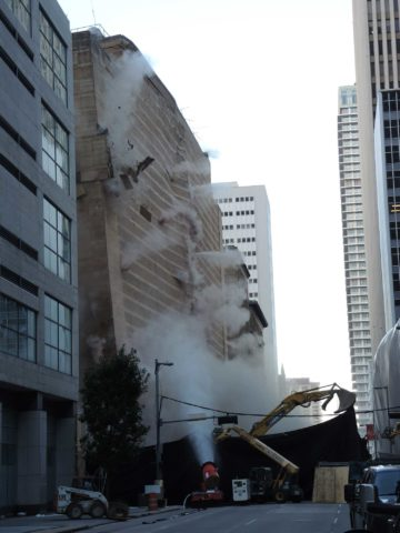 Terracon supplied vibration monitoring during controlled implosion of Macy's building