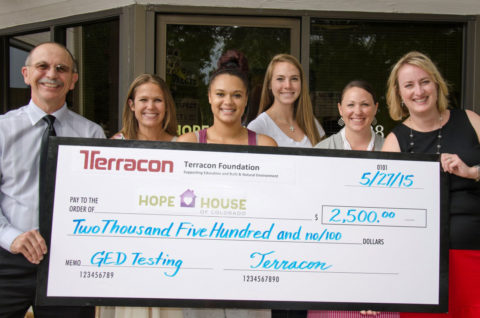 The Hope House was awarded a $2500 grant by the Terracon Foundation.