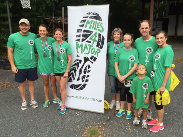 Employees at the Terracon Atlanta North office ran in the Miles4Major 5K race to raise money for childrens hearing aids.