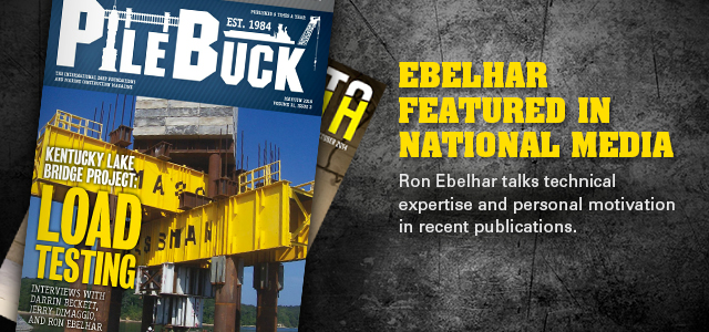 Ron Ebelhar featured in Pile Buck International