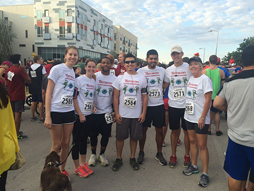 Employees from the Austin Terracon office participated in the CASA Superhero 5K run recently to raise money for abused and neglected children.