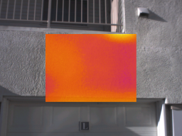 Thermal image at window