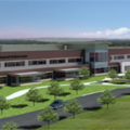 Geotechnical services provided for the Jamestown Hospital by Terracon include soil investigation and construction materials testing.