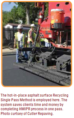 Terracon uses the latest techniques in hot-mixed-in-place asphalt recycling for rehabilitation of deteriorated pavement.