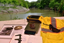 Tools used by Terracon environmental engineers for environmental surveys.