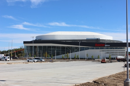 Terracon faced geotechnical challenges when working on the new Baxter Arena for the University of Nebraska-Omaha.