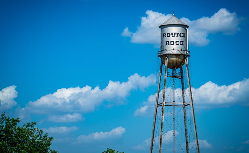 Round Rock Texas water tower