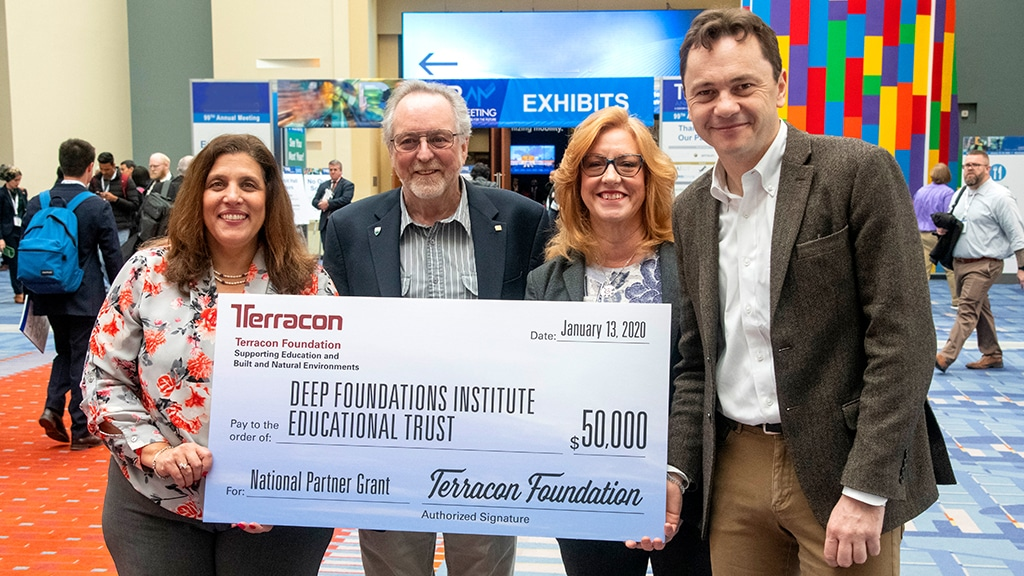Check presentation Deep Foundations Institute Educational Trust Terracon National Partner Grant