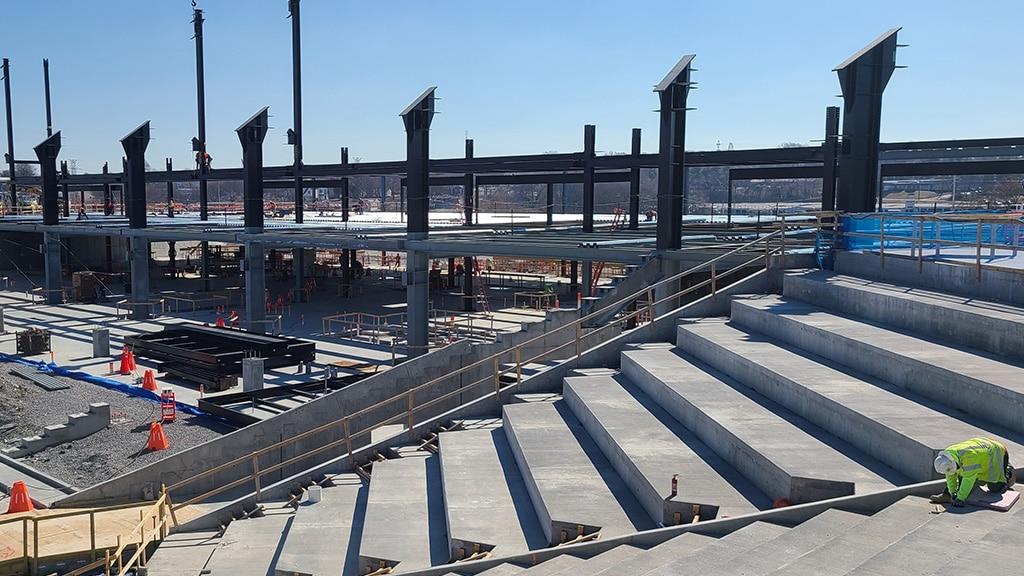 Nashville MLS stadium in construction